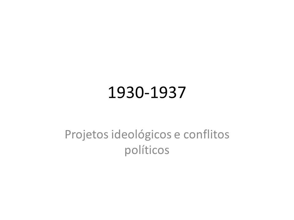 Projetos ideológicos e conflitos políticos