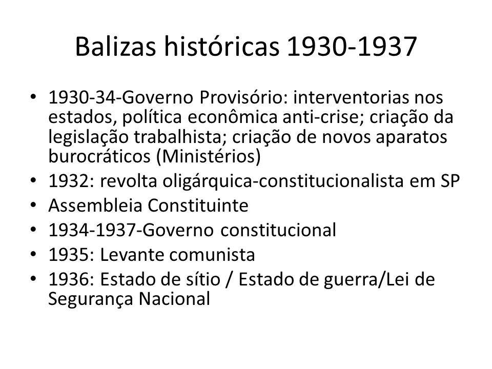 Balizas históricas 1930-1937