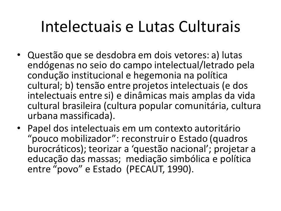Intelectuais e Lutas Culturais