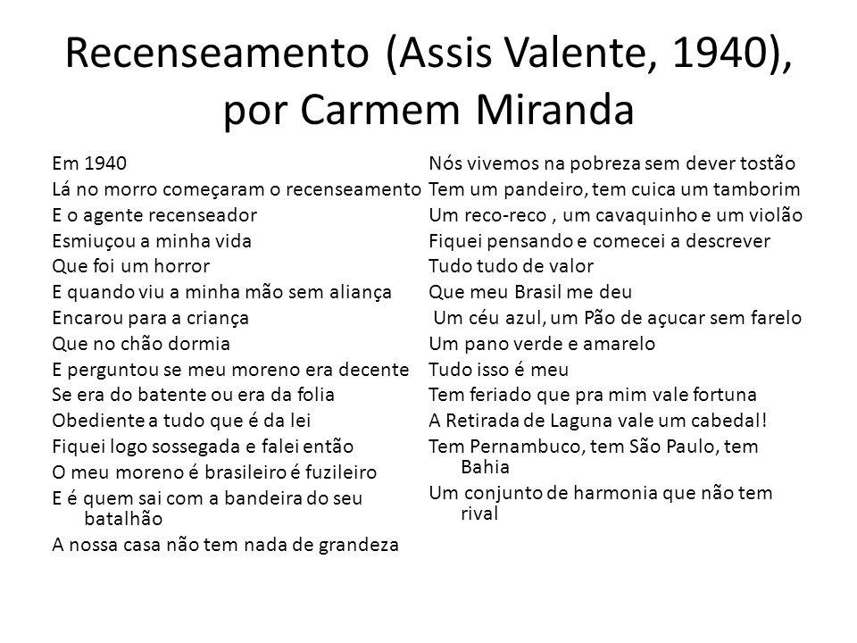 Recenseamento (Assis Valente, 1940), por Carmem Miranda
