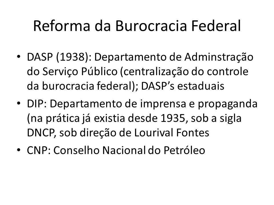 Reforma da Burocracia Federal