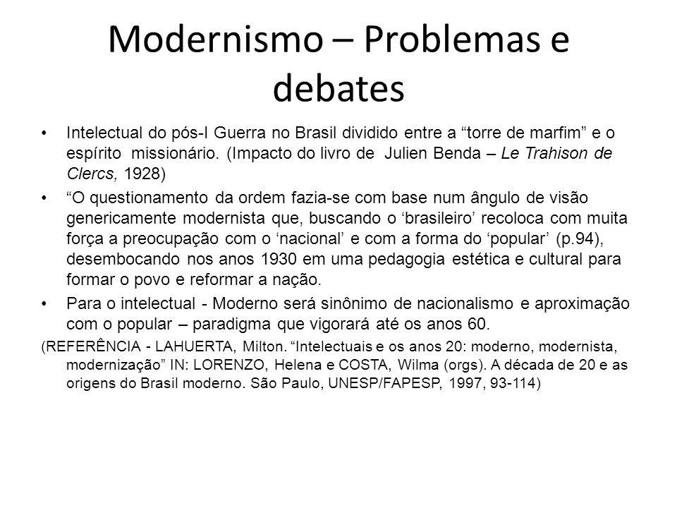 Modernismo – Problemas e debates