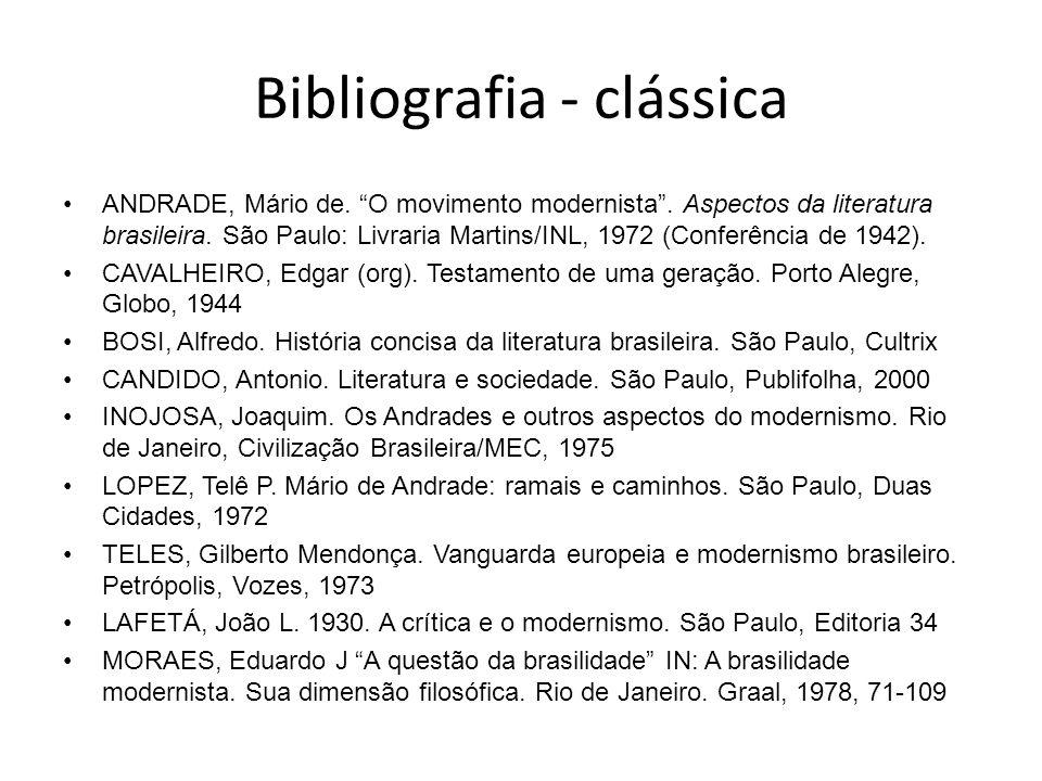 Bibliografia - clássica