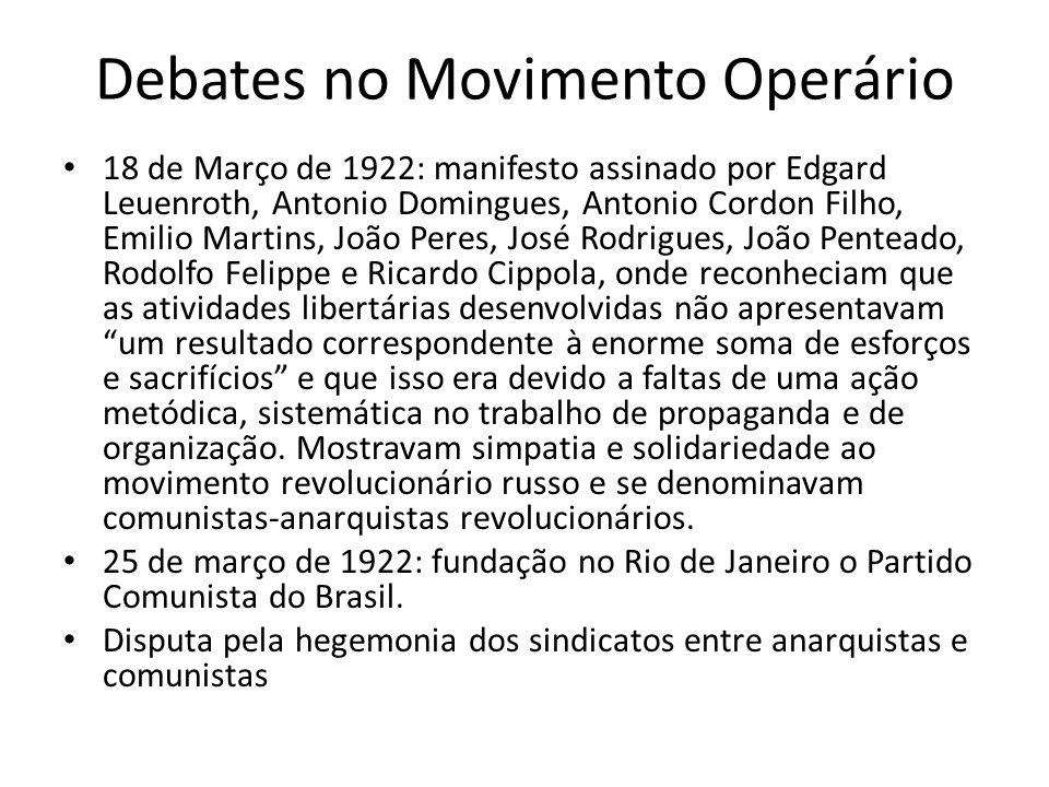 Debates no Movimento Operário