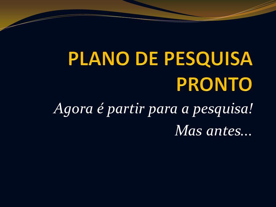 PLANO DE PESQUISA PRONTO