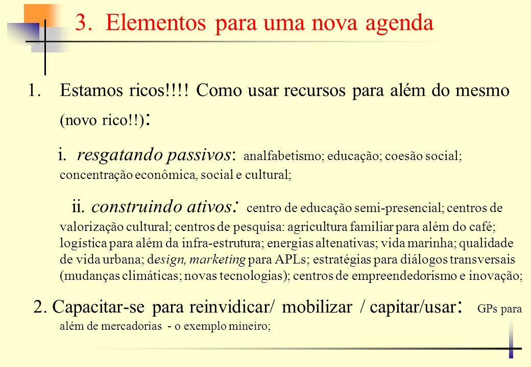 …elementos para uma nova agenda