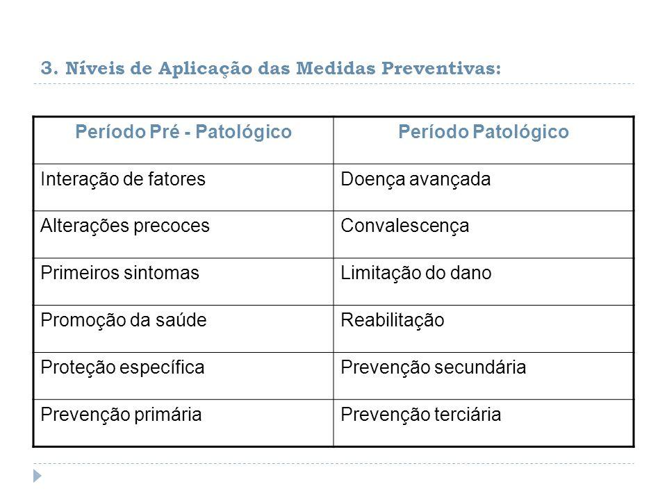 3. Níveis de Aplicação das Medidas Preventivas: