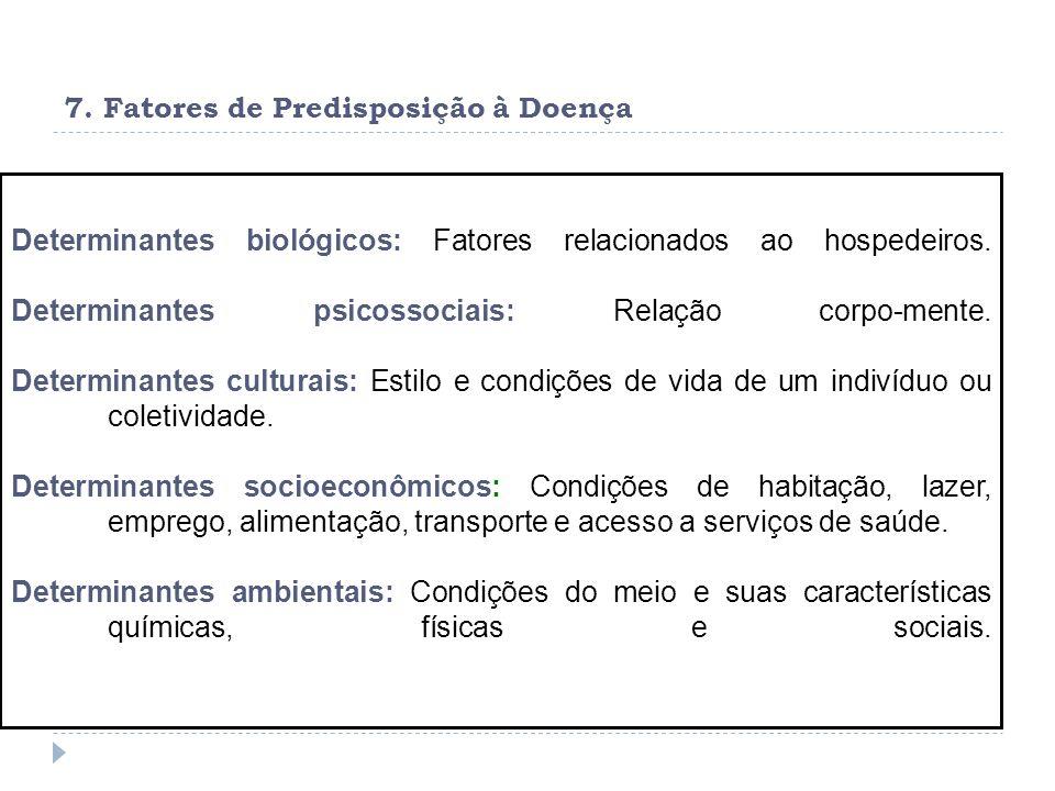 7. Fatores de Predisposição à Doença