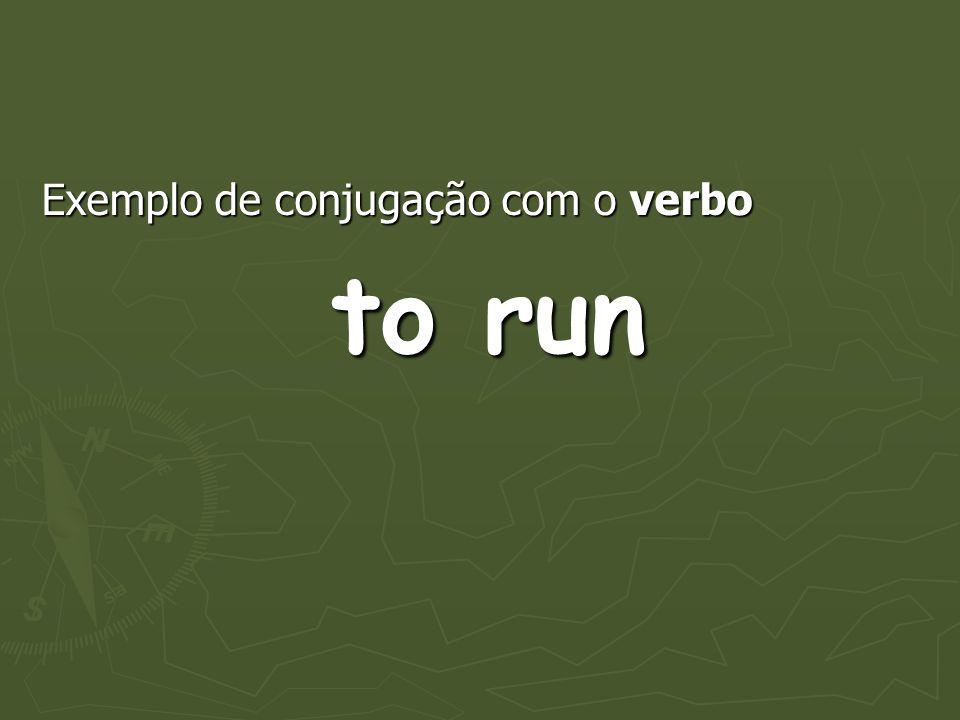 Exemplo de conjugação com o verbo