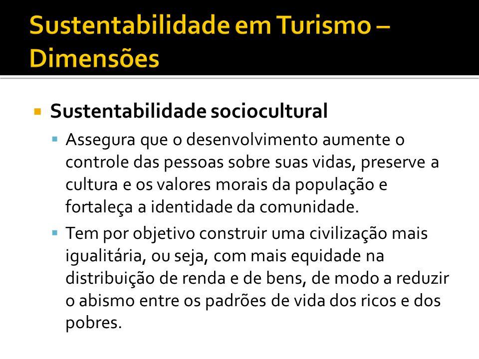 Sustentabilidade em Turismo – Dimensões