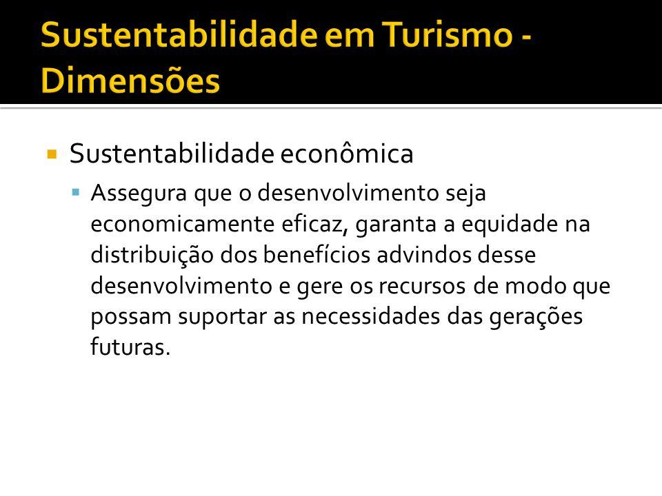 Sustentabilidade em Turismo - Dimensões