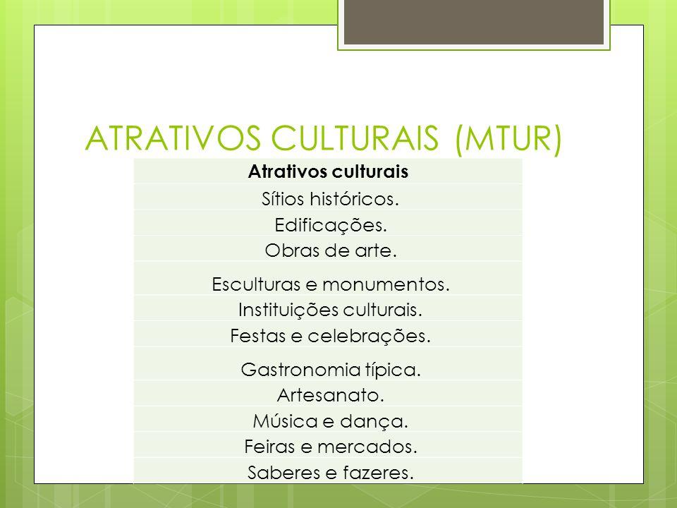 ATRATIVOS CULTURAIS (MTUR)