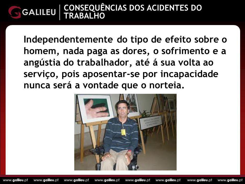 CONSEQUÊNCIAS DOS ACIDENTES DO TRABALHO