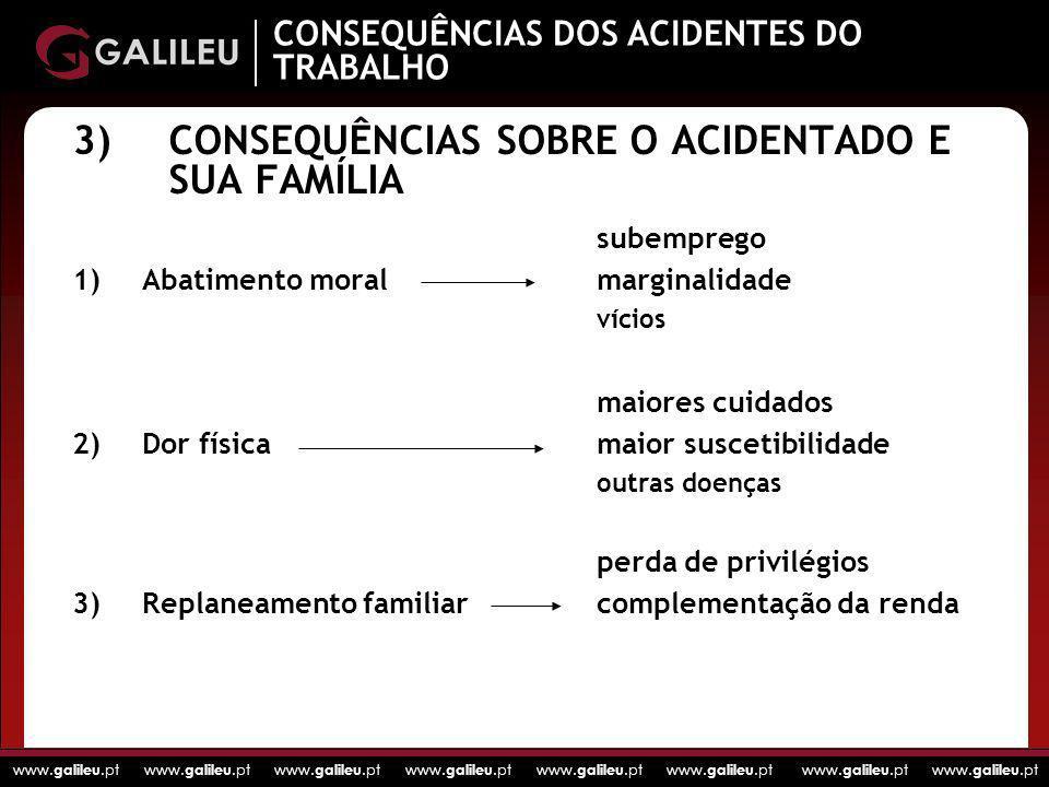 3) CONSEQUÊNCIAS SOBRE O ACIDENTADO E SUA FAMÍLIA