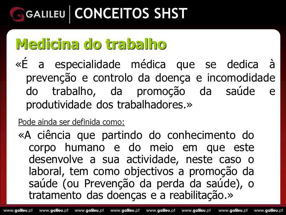 CONCEITOS SHST Medicina do trabalho