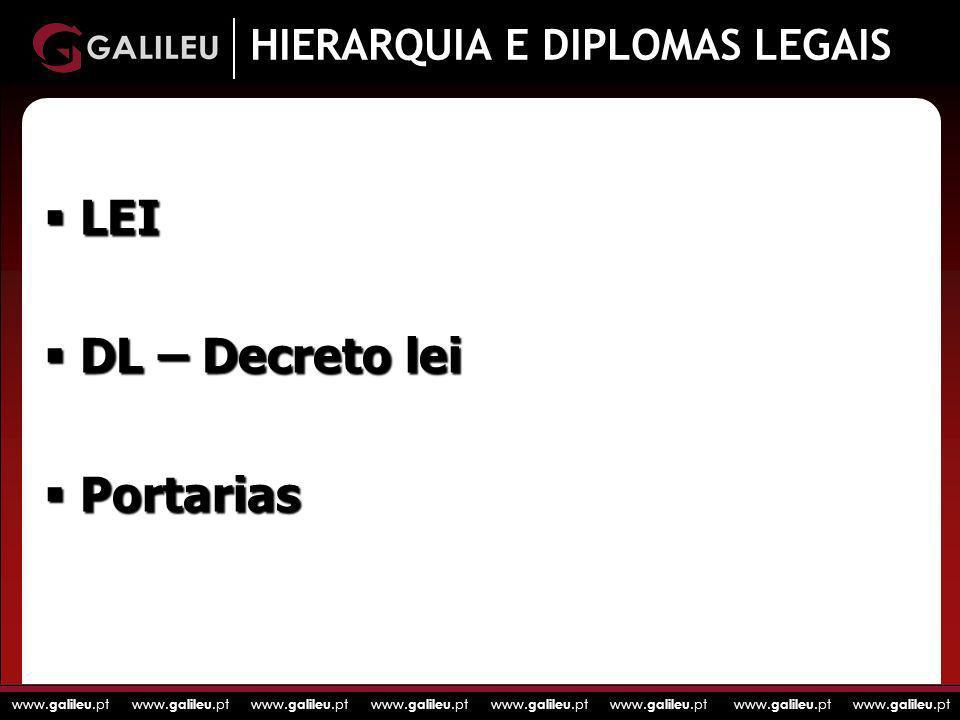 HIERARQUIA E DIPLOMAS LEGAIS