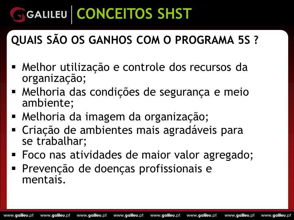 QUAIS SÃO OS GANHOS COM O PROGRAMA 5S