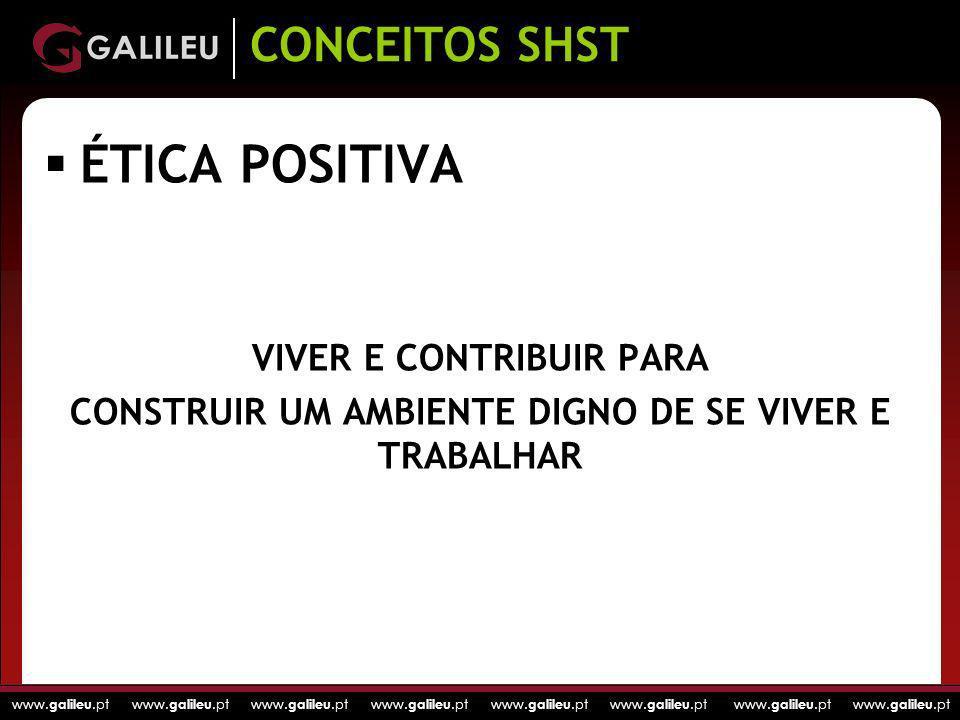 ÉTICA POSITIVA CONCEITOS SHST VIVER E CONTRIBUIR PARA