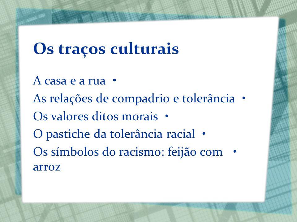 Os traços culturais A casa e a rua