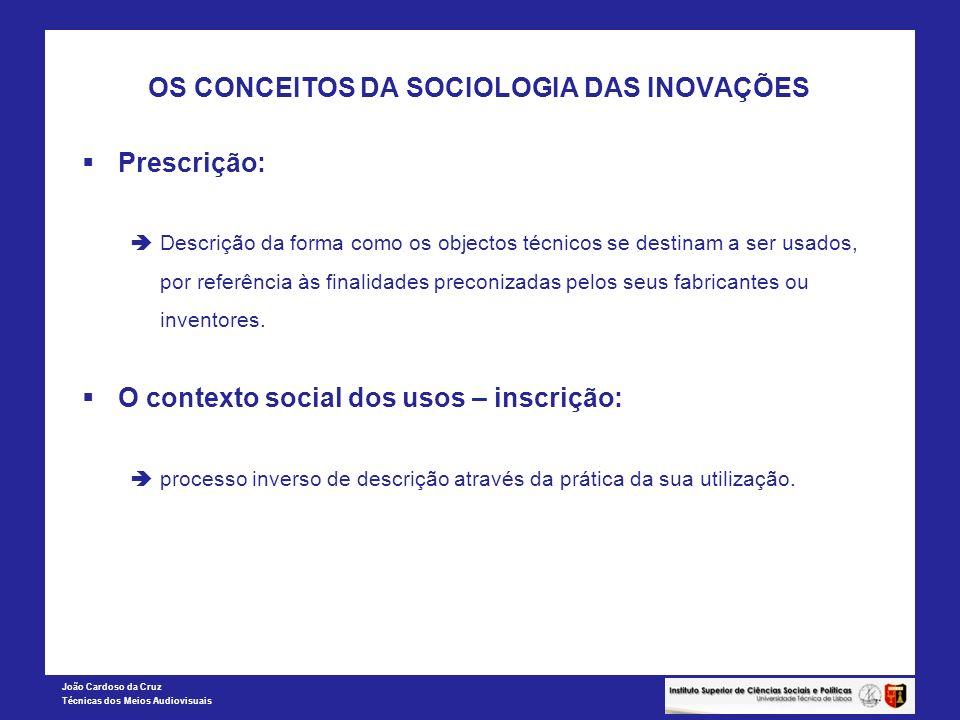 OS CONCEITOS DA SOCIOLOGIA DAS INOVAÇÕES