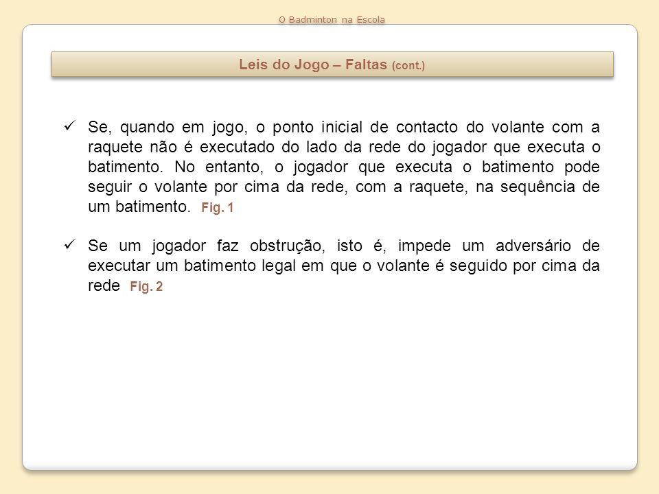 Leis do Jogo – Faltas (cont.)