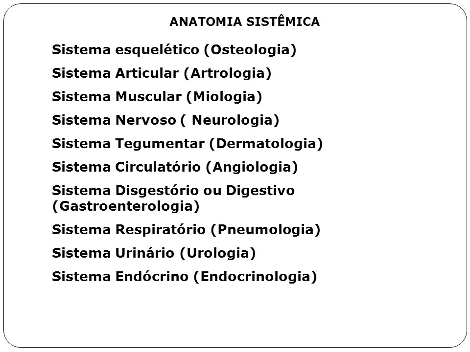 Sistema esquelético (Osteologia) Sistema Articular (Artrologia)