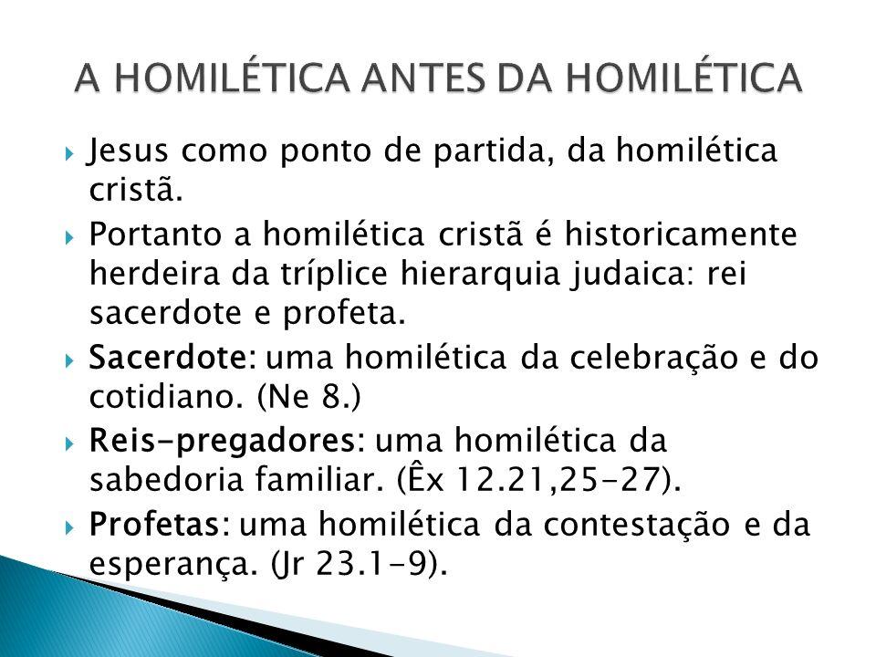 A HOMILÉTICA ANTES DA HOMILÉTICA