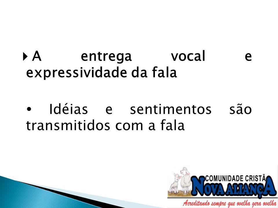 A entrega vocal e expressividade da fala