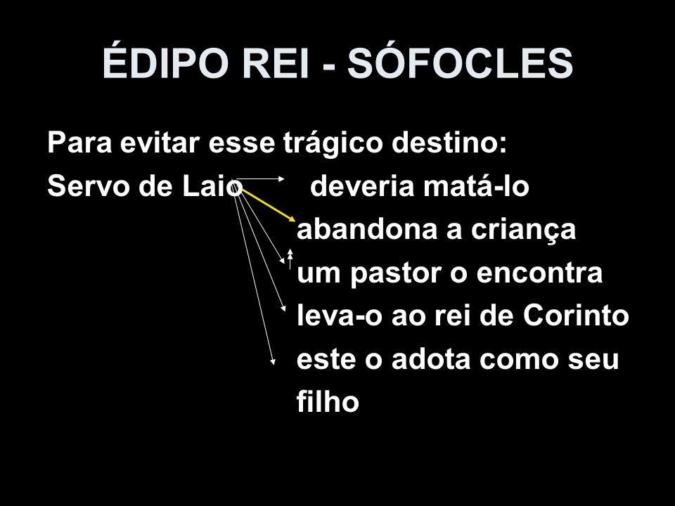 ÉDIPO REI - SÓFOCLES Para evitar esse trágico destino: