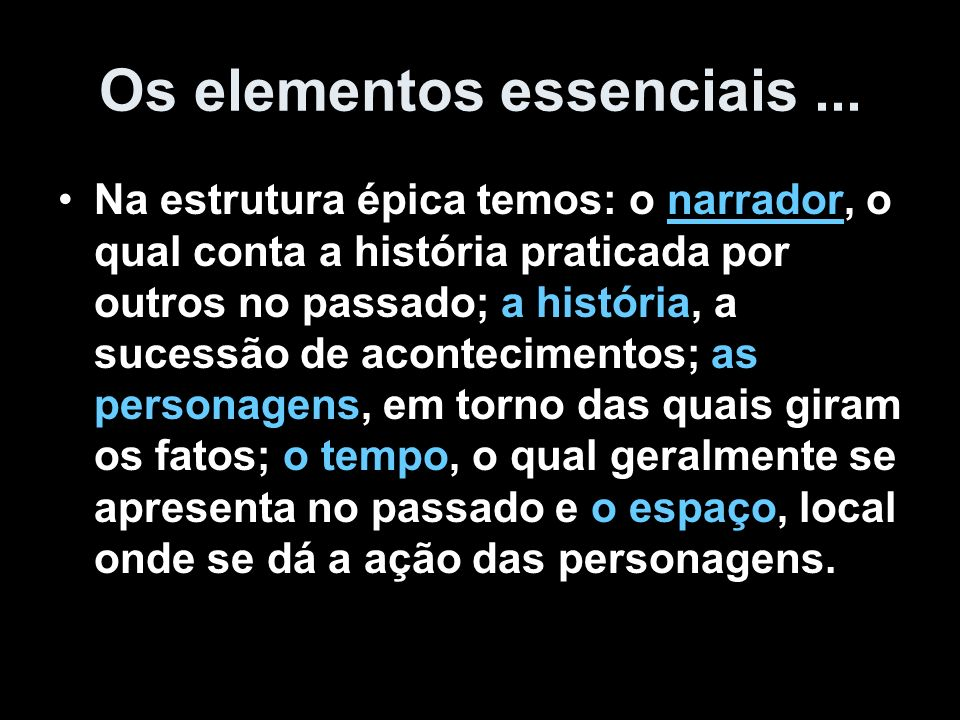 Os elementos essenciais ...