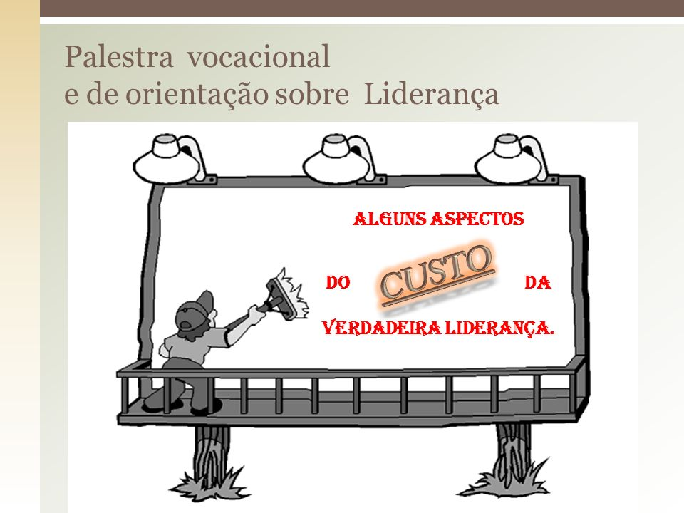 Palestra vocacional e de orientação sobre Liderança