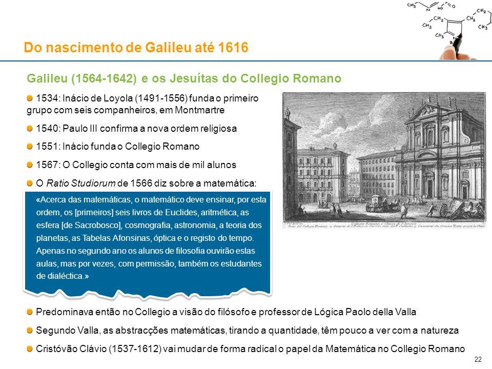Do nascimento de Galileu até 1616