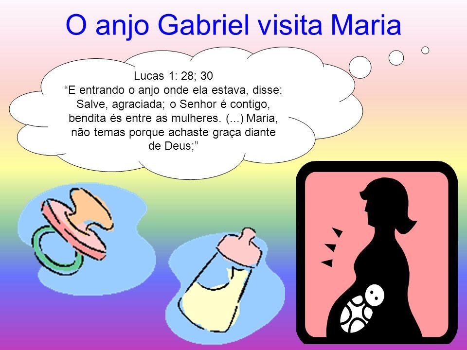 O anjo Gabriel visita Maria