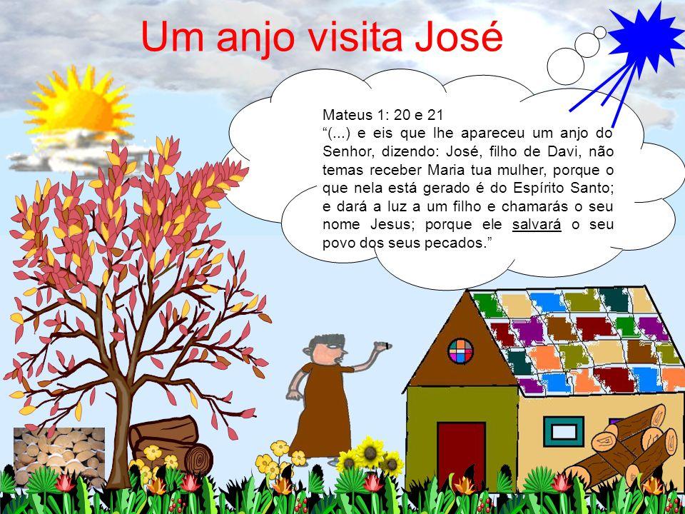 Um anjo visita José Mateus 1: 20 e 21
