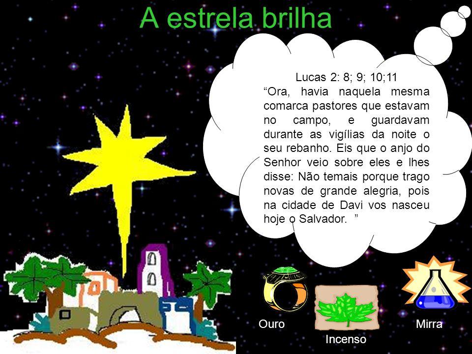 A estrela brilha Lucas 2: 8; 9; 10;11