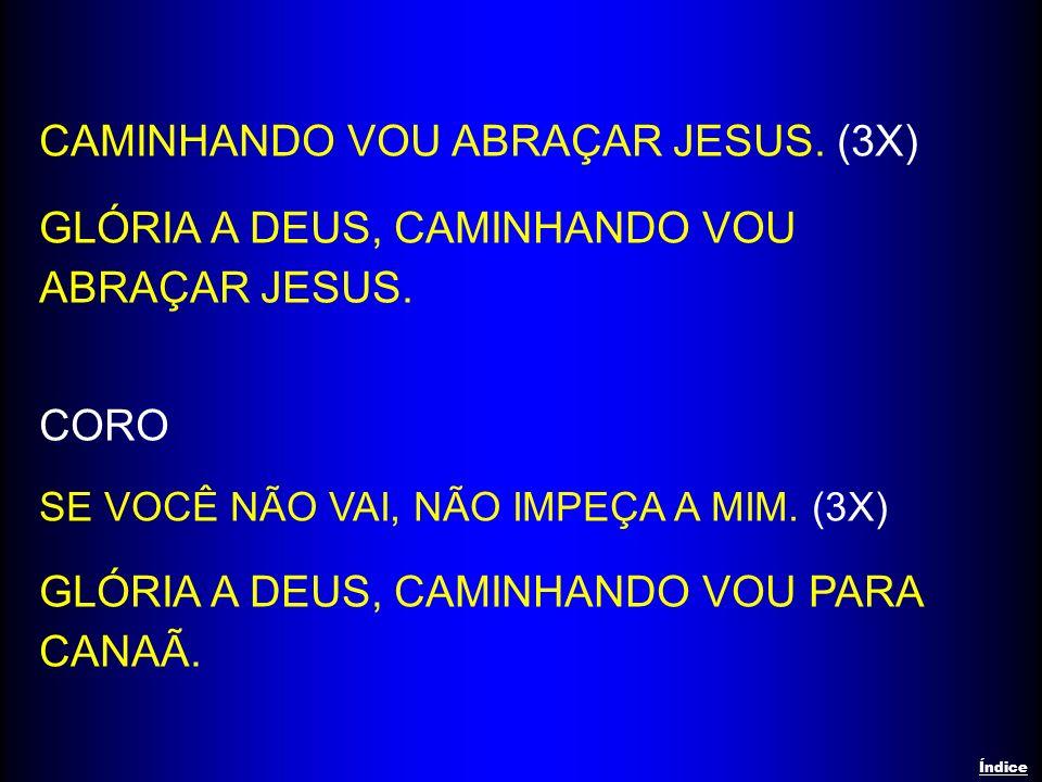 CAMINHANDO VOU ABRAÇAR JESUS. (3X)