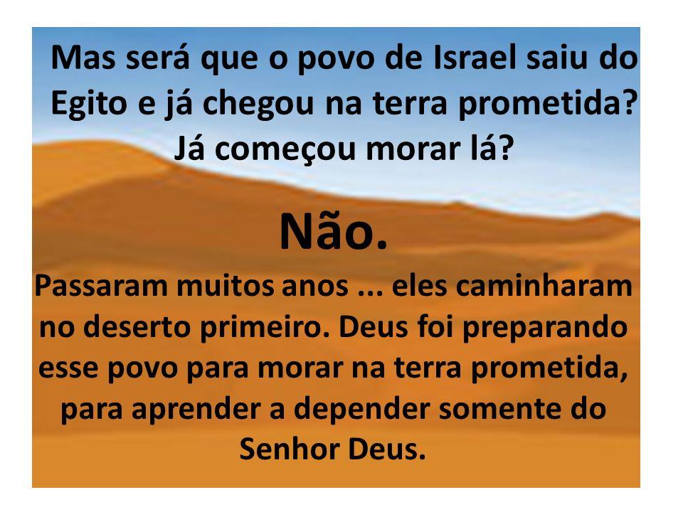 Mas será que o povo de Israel saiu do Egito e já chegou na terra prometida Já começou morar lá