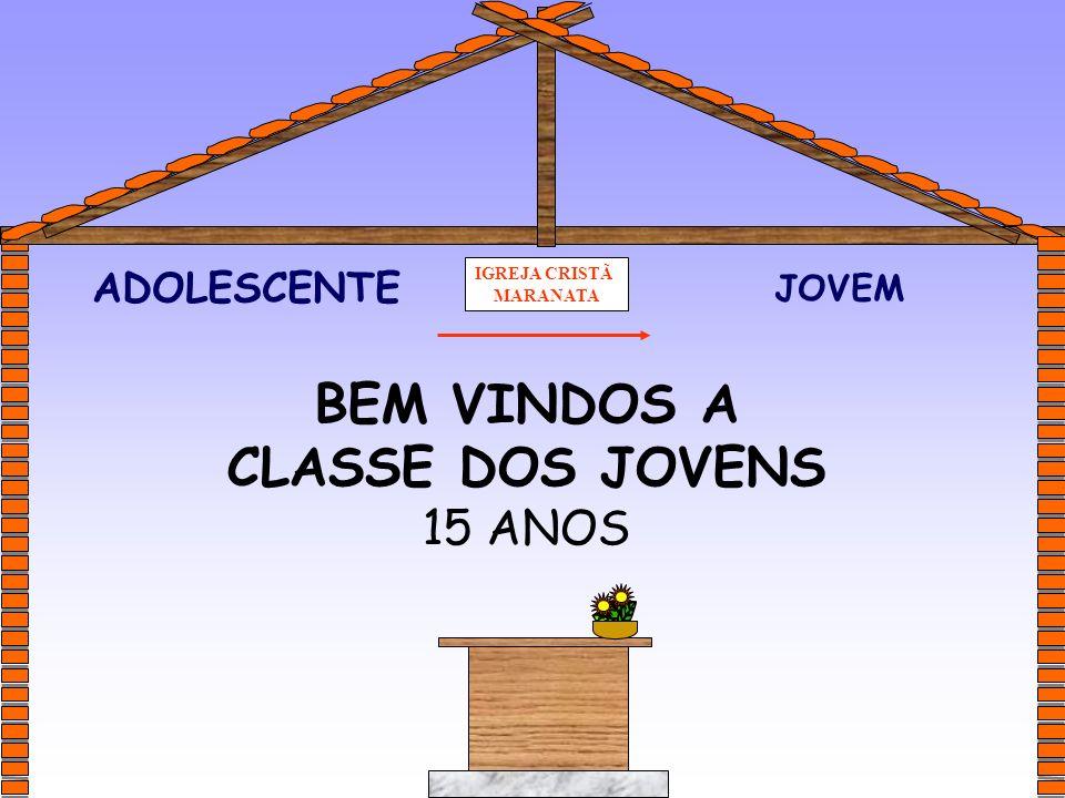 BEM VINDOS A CLASSE DOS JOVENS