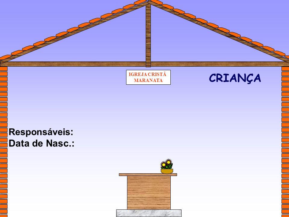 IGREJA CRISTÃ MARANATA CRIANÇA Responsáveis: Data de Nasc.: