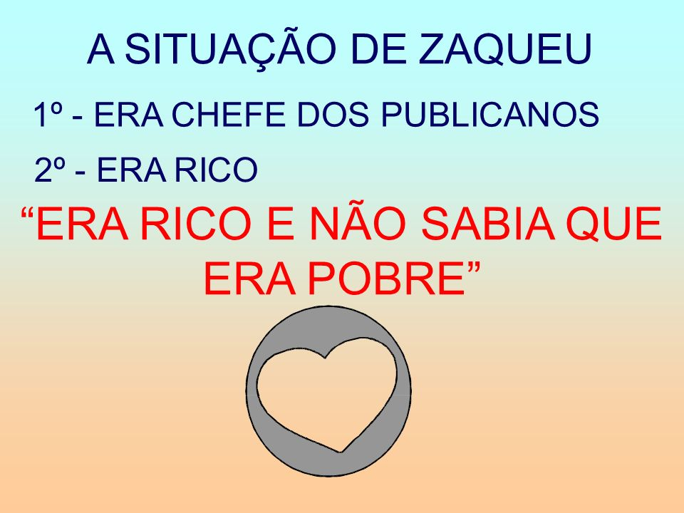 ERA RICO E NÃO SABIA QUE ERA POBRE