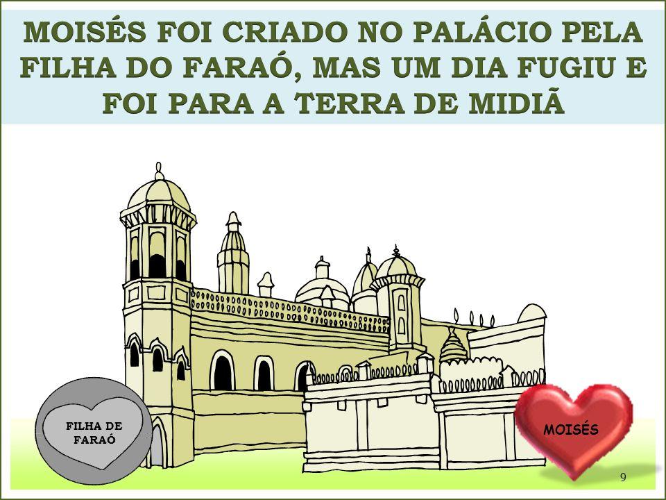 MOISÉS FOI CRIADO NO PALÁCIO PELA FILHA DO FARAÓ, MAS UM DIA FUGIU E FOI PARA A TERRA DE MIDIÃ