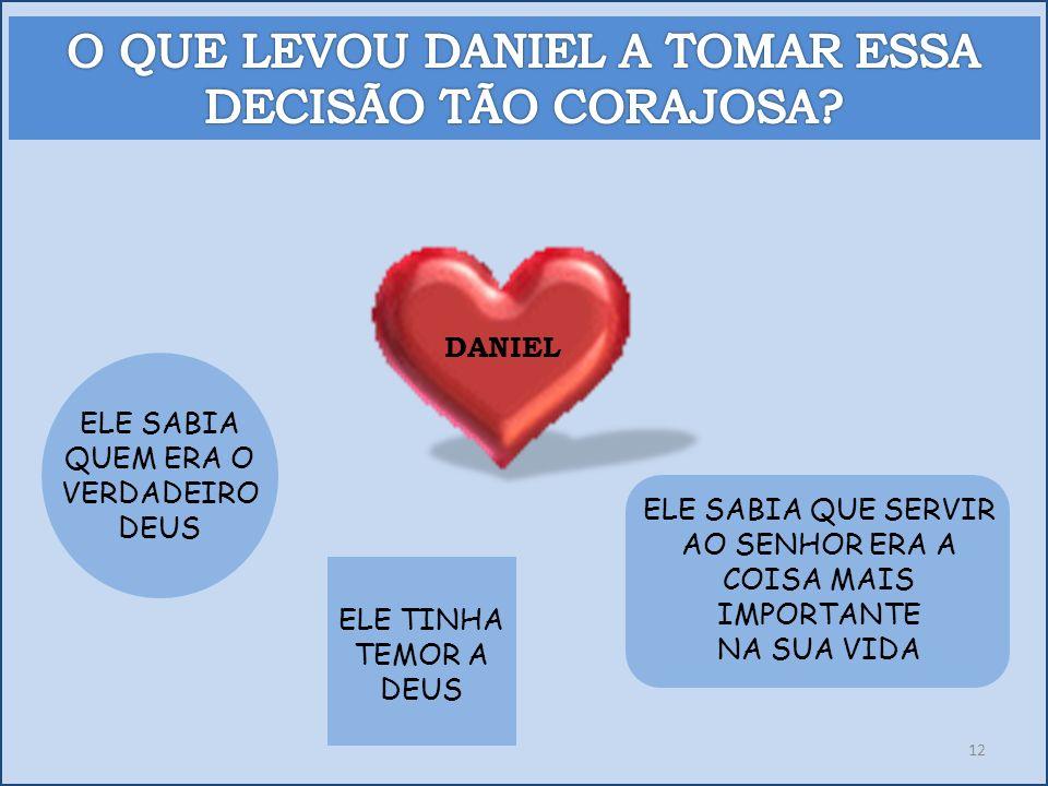 O QUE LEVOU DANIEL A TOMAR ESSA DECISÃO TÃO CORAJOSA