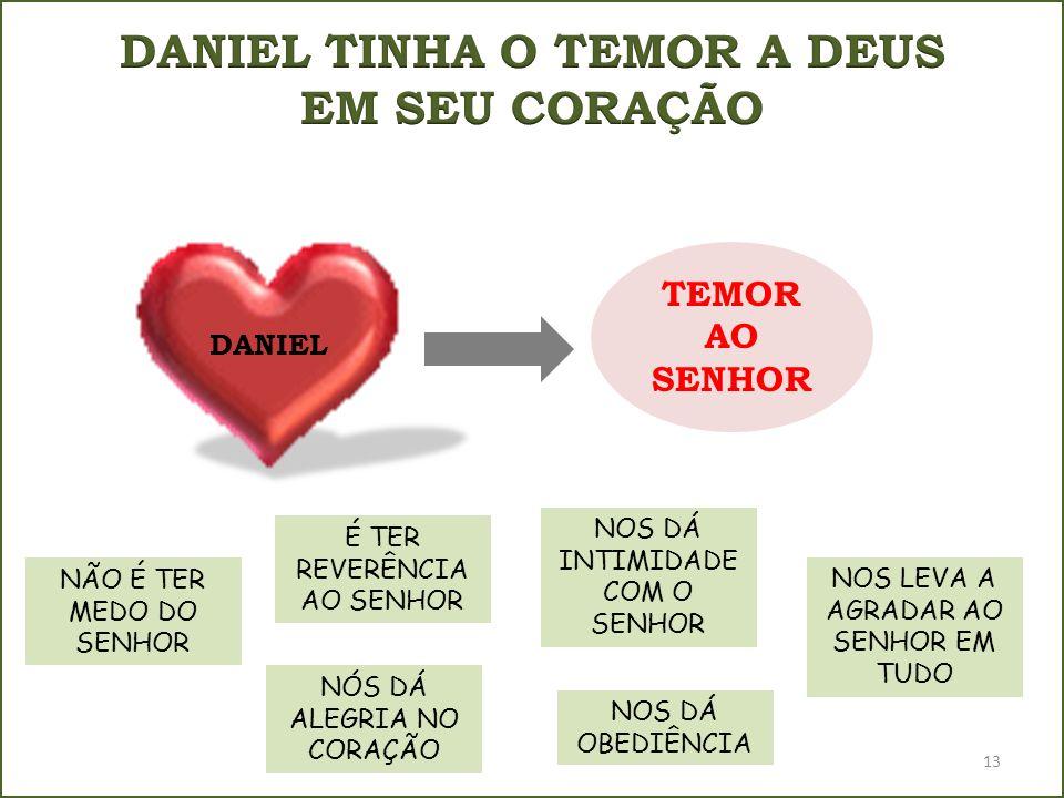 DANIEL TINHA O TEMOR A DEUS