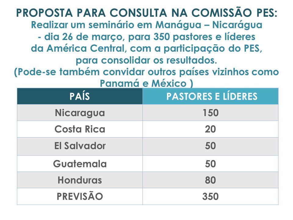 PROPOSTA PARA CONSULTA NA COMISSÃO PES: