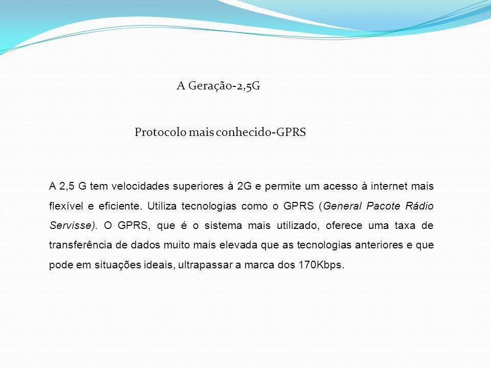 Protocolo mais conhecido-GPRS