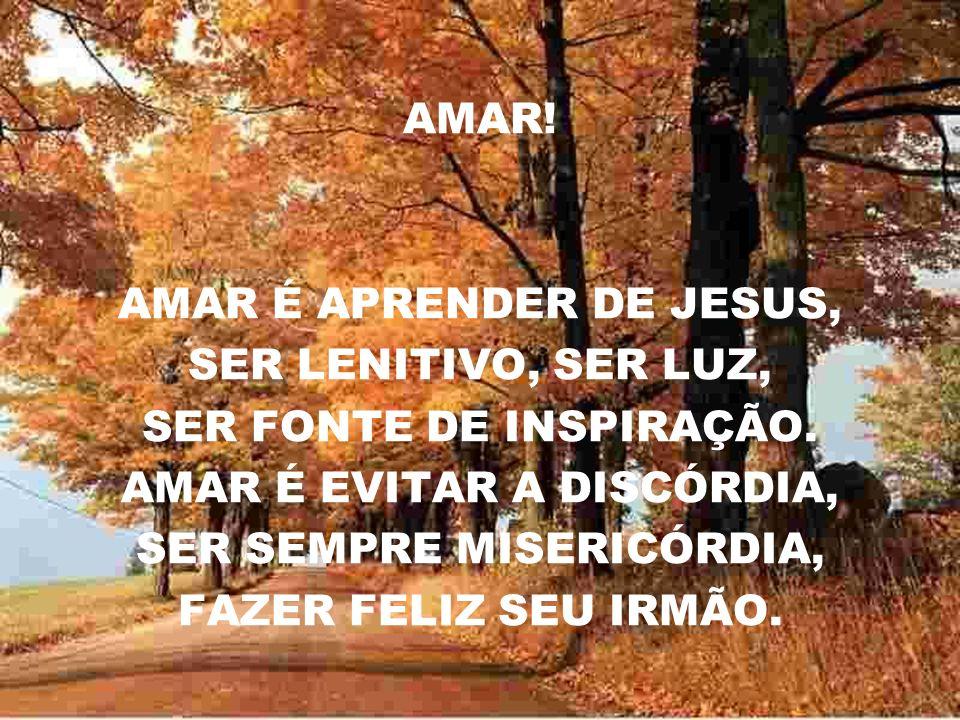 AMAR É APRENDER DE JESUS, SER LENITIVO, SER LUZ,