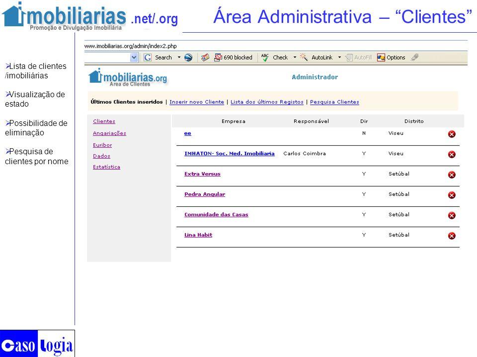 Área Administrativa – Clientes