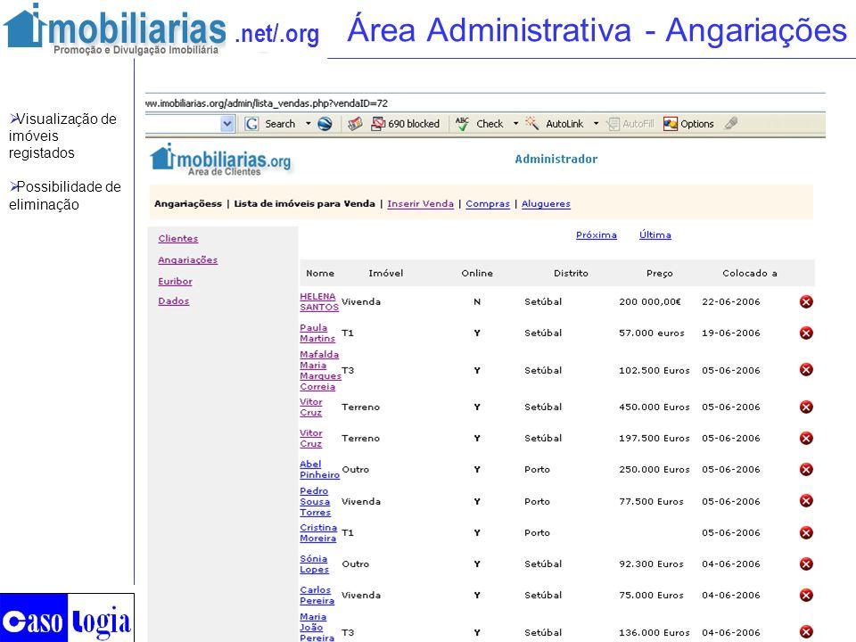Área Administrativa - Angariações