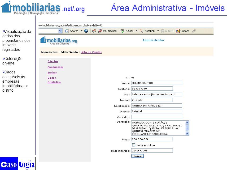 Área Administrativa - Imóveis