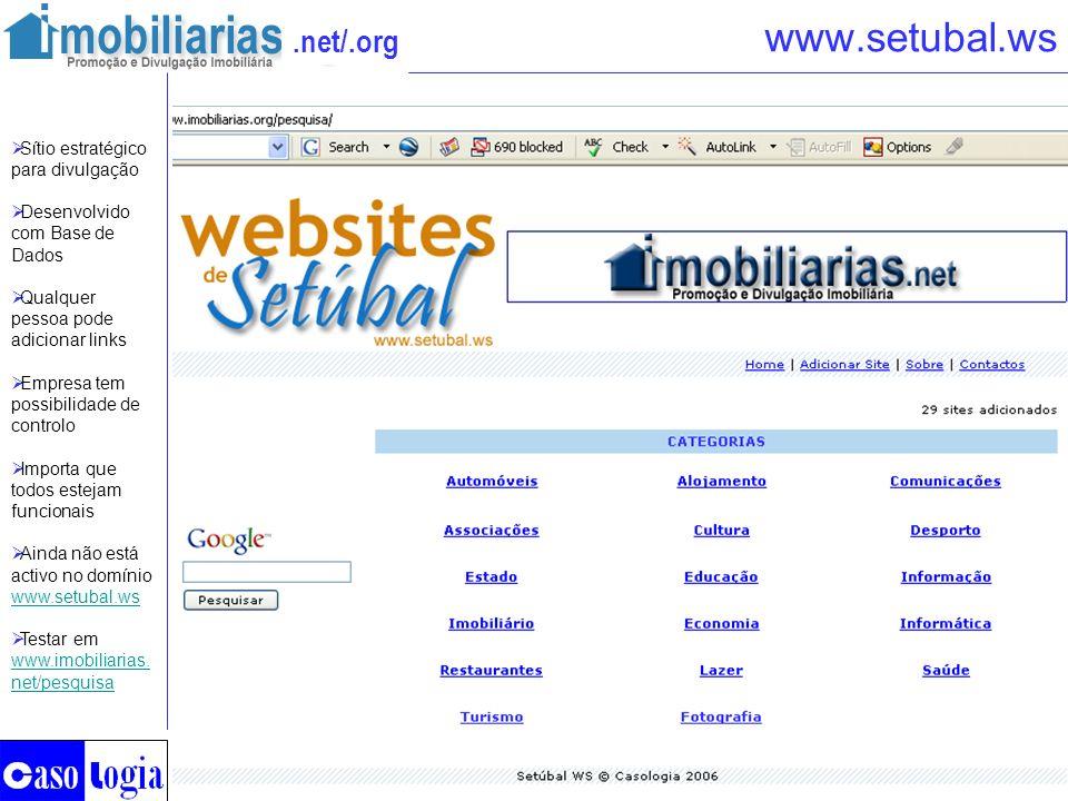 www.setubal.ws Sítio estratégico para divulgação